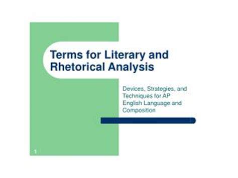 Analysis literary elements essay
